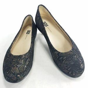 SAS Womens Slip On Comfort Paisley Ballet Flats